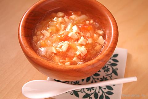 ささみとトマトの野菜スープ