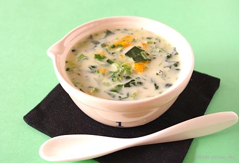 ほうれん草とかぼちゃの豆乳スープ