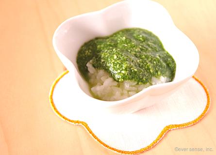 ほうれん草と豆腐のおかゆ