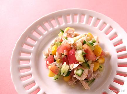 きゅうりとささみのカラフルサラダ