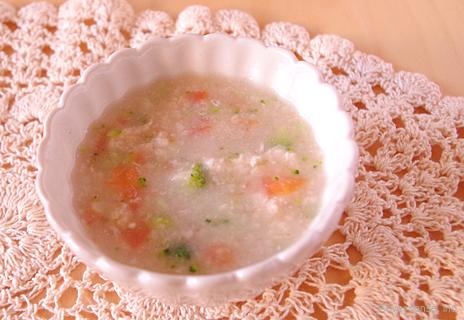 オートミールの野菜スープ風味
