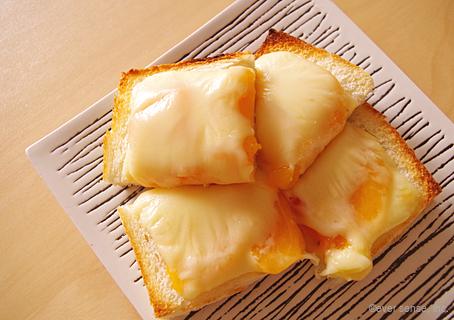 柿のチーズトースト