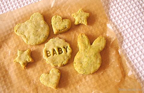 米粉のほうれん草クッキー