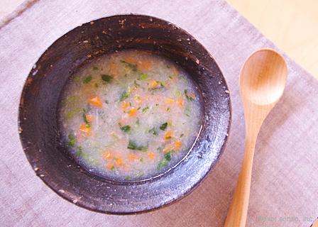 レンコンと小松菜のスープ
