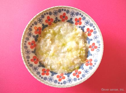 レタスと鯛のチーズ粥