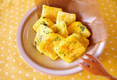 豆乳と小松菜のフレンチトースト