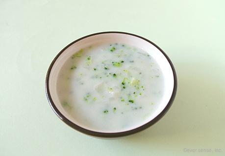 かぶとブロッコリーのミルクスープ