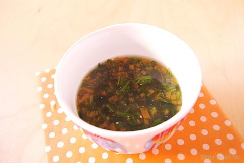 わかめと野菜の味噌汁