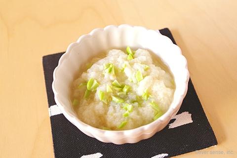枝豆の味噌パン粥