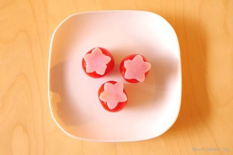 ミニトマト&型抜きハム